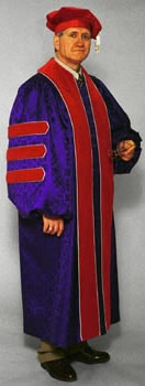 Academic regalia and doctoral tam by Cap and Gown Direct