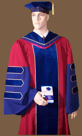 doctoral robe and tam